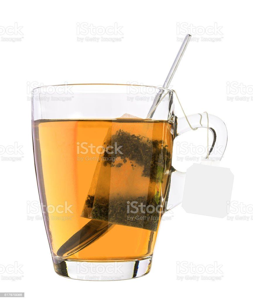 Glass of tea stock photo
