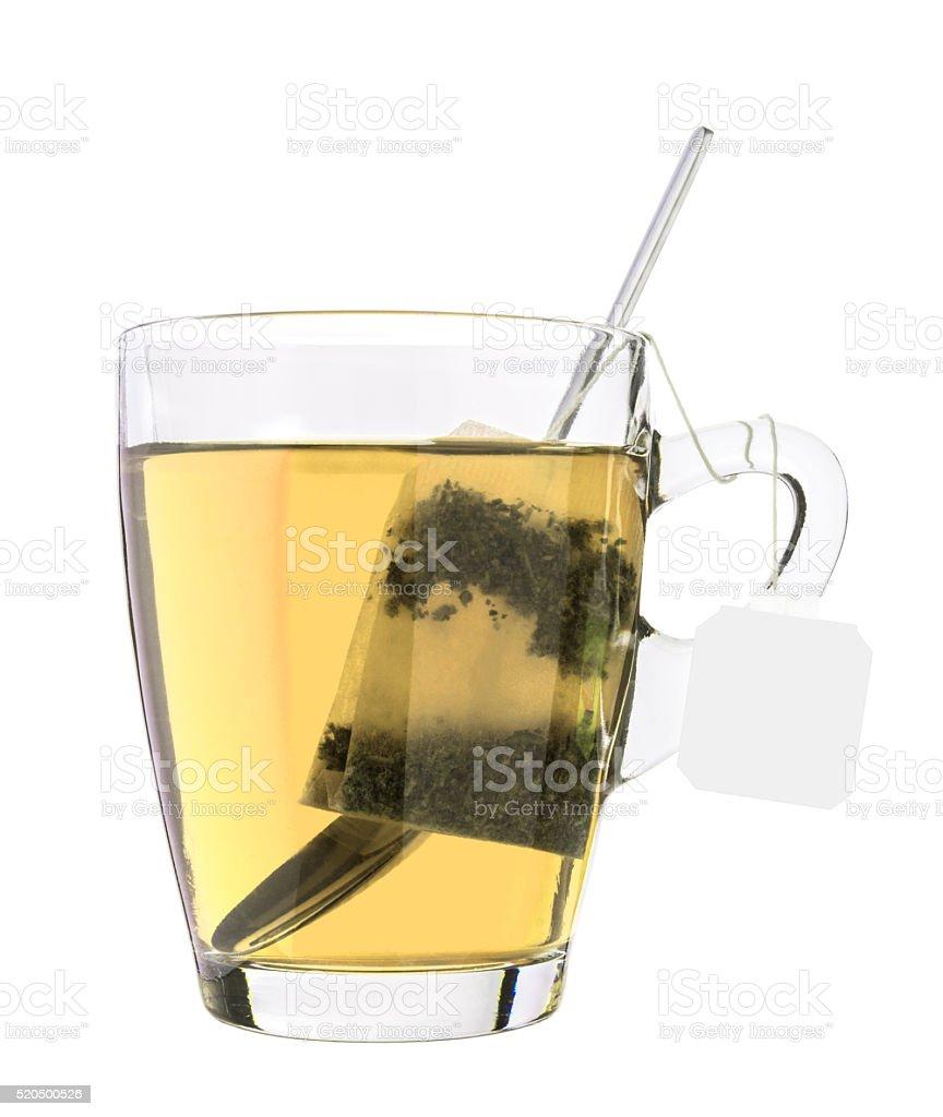 Glass of tea stock photo