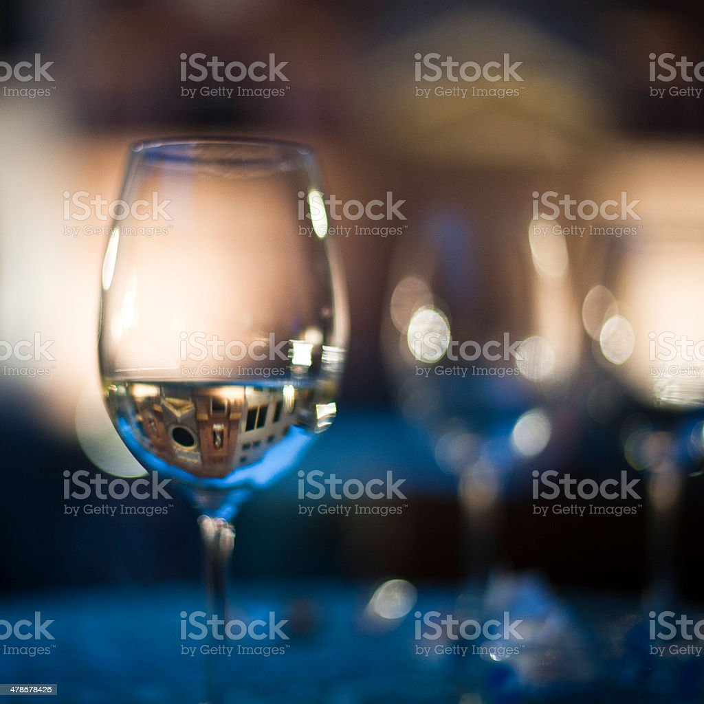 glass of vine stock photo