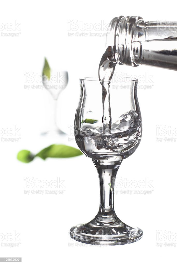 glass of vodka royalty-free stock photo