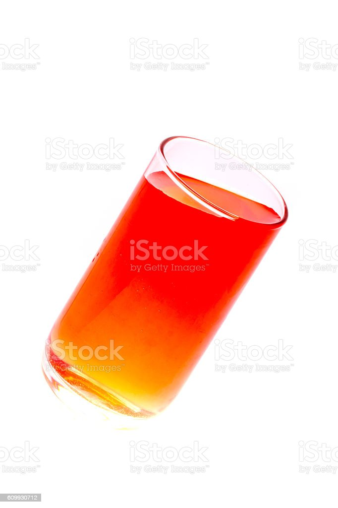 Glass of water, drink water,light from the glass. stock photo