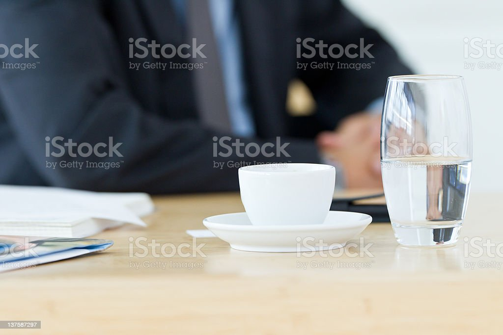 glass of water half-empty royalty-free stock photo