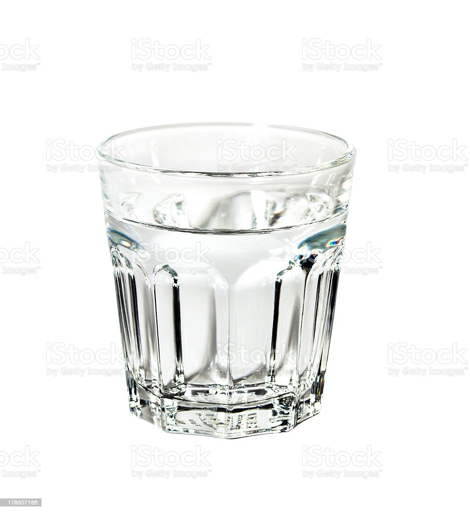 Glass of water isolated on white background royalty-free stock photo