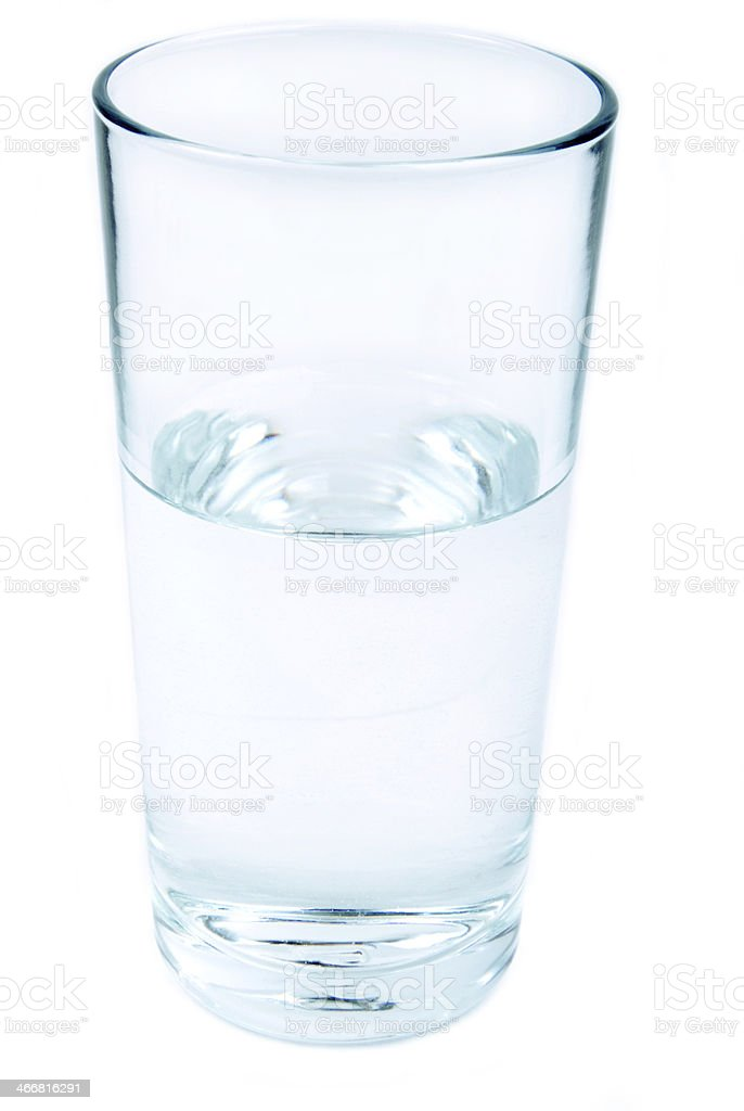 glass of water isolated stock photo