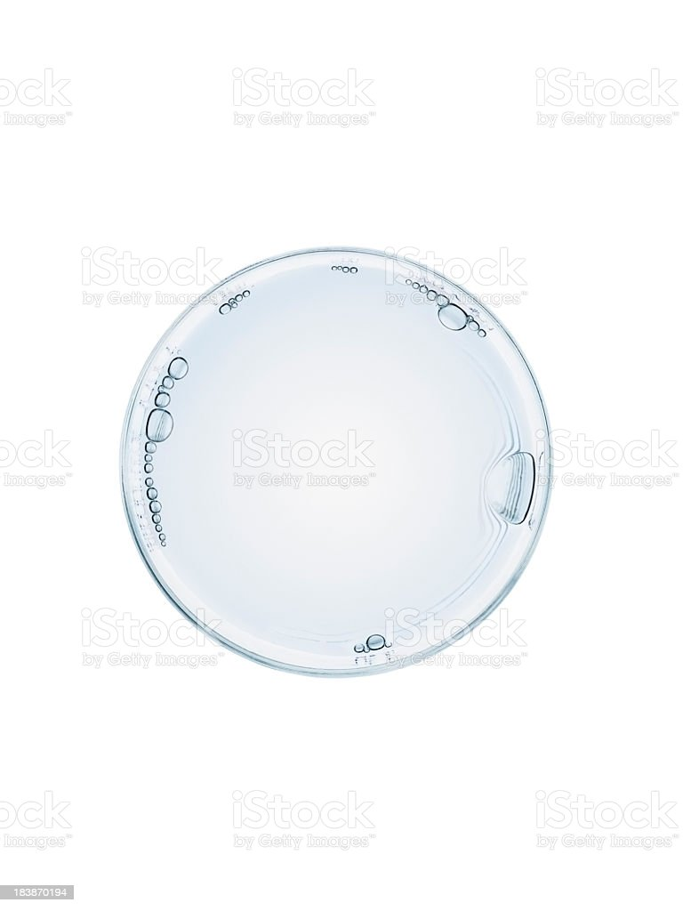 Glass of water on white background royalty-free stock photo