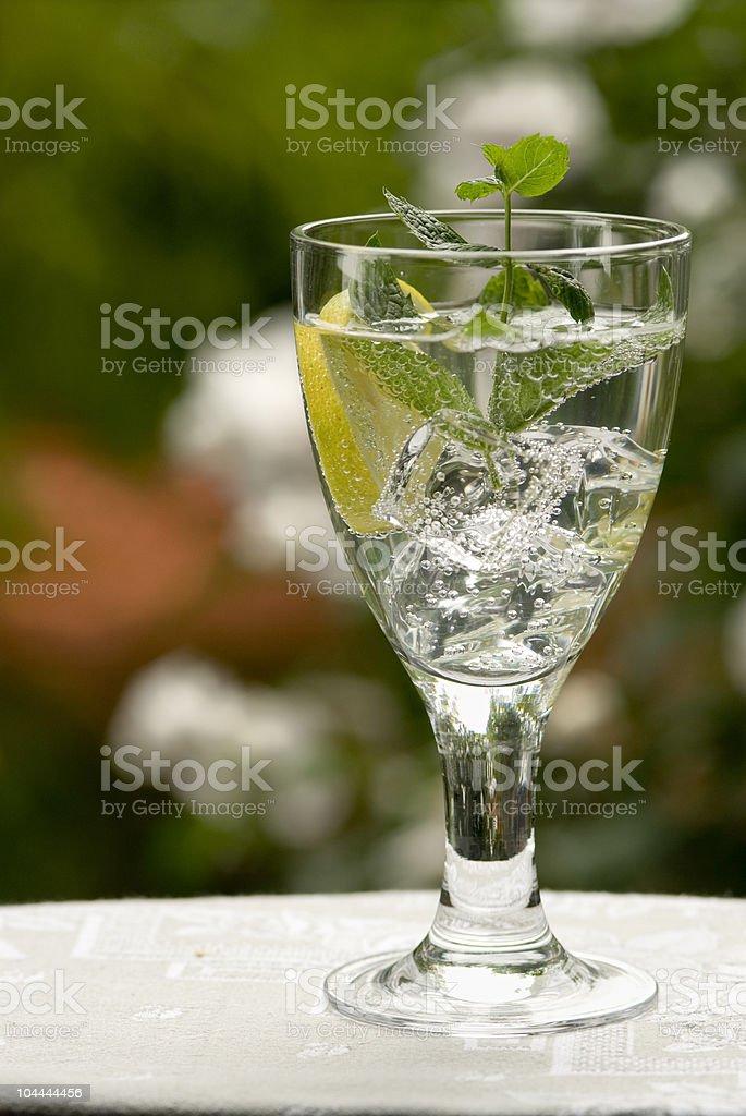 Bicchiere di acqua foto stock royalty-free