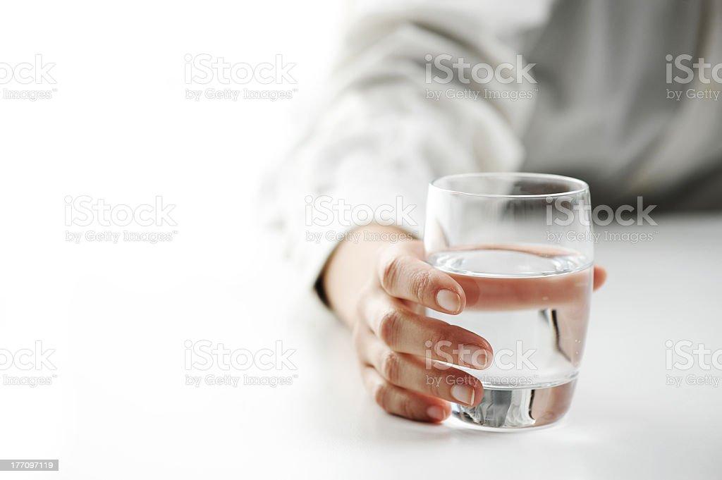 Verre d'eau photo libre de droits
