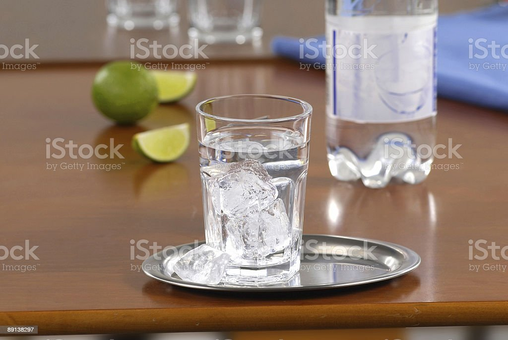 Glass of water with ice Стоковые фото Стоковая фотография