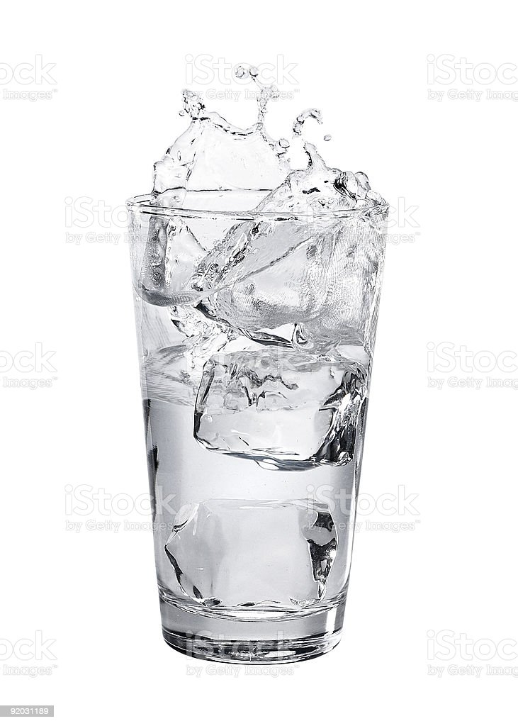 Glass of Water with Splash royalty-free stock photo