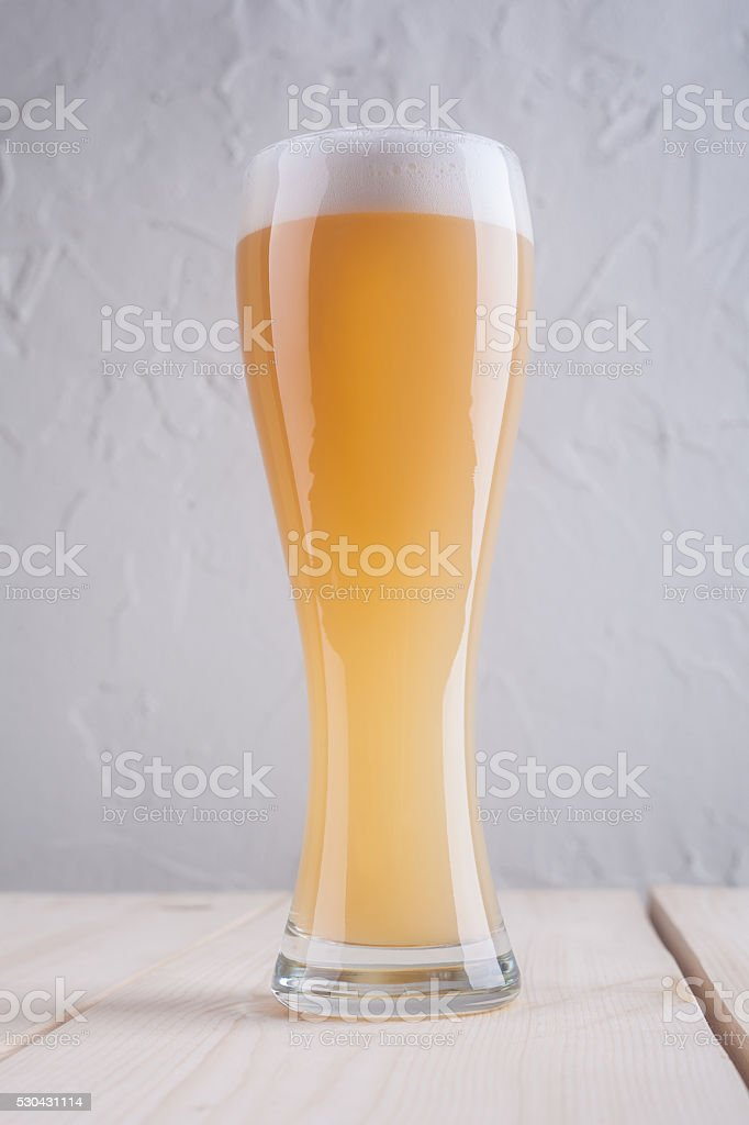 Glass of weizen stock photo