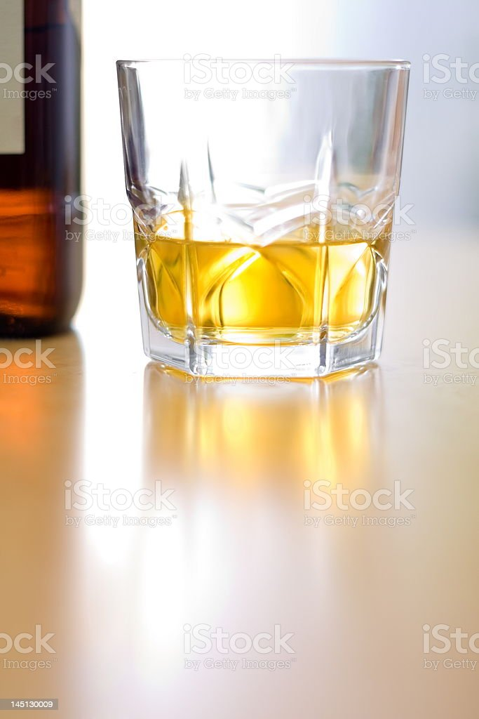 Glass of whiskey royalty-free stock photo