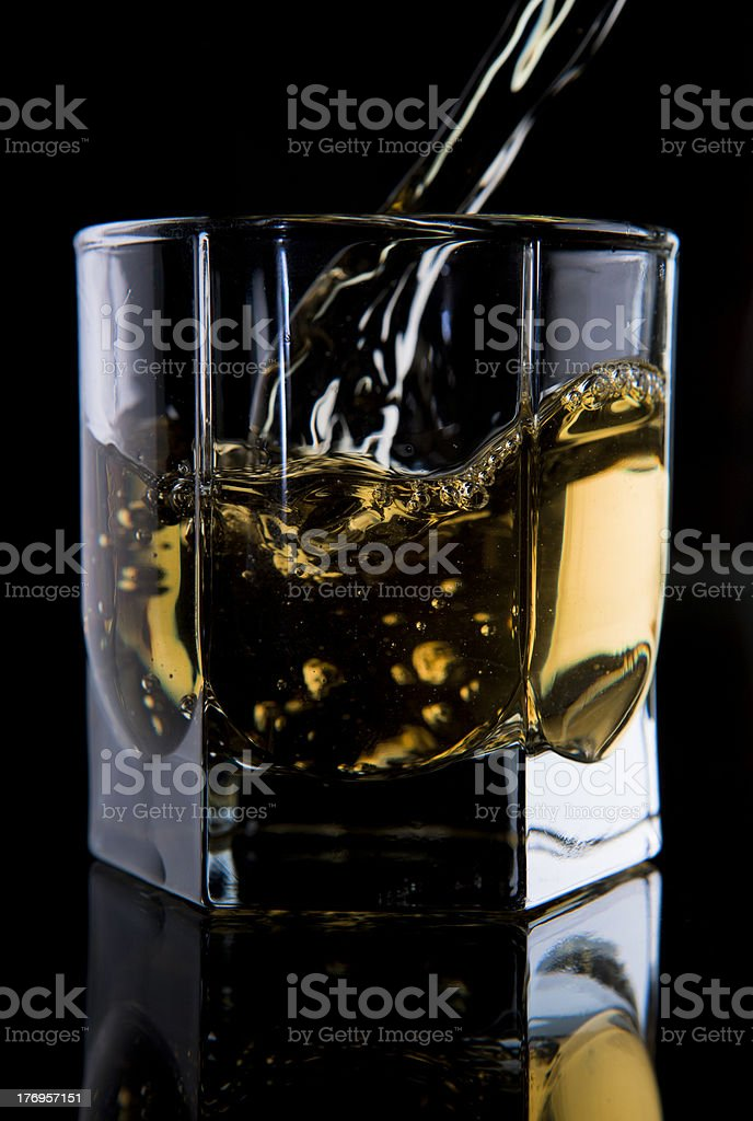 Glass of whisky. stock photo