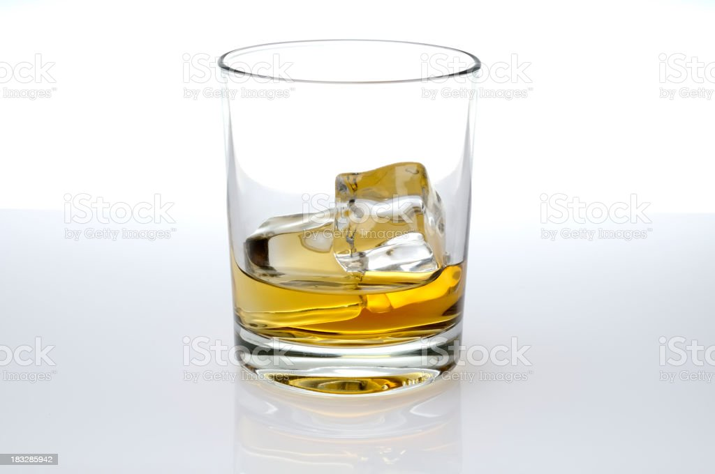 Glass of whisky royalty-free stock photo