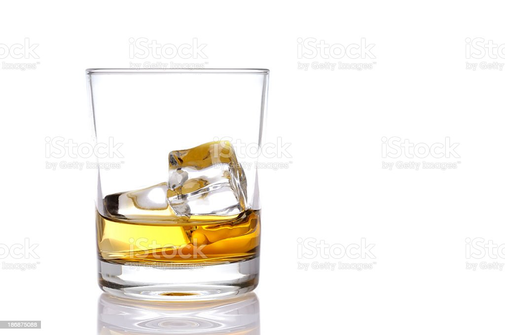 Glass of whisky stock photo