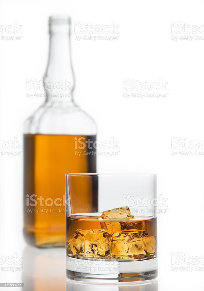 Glass of whisky, whiskey royalty-free stock photo