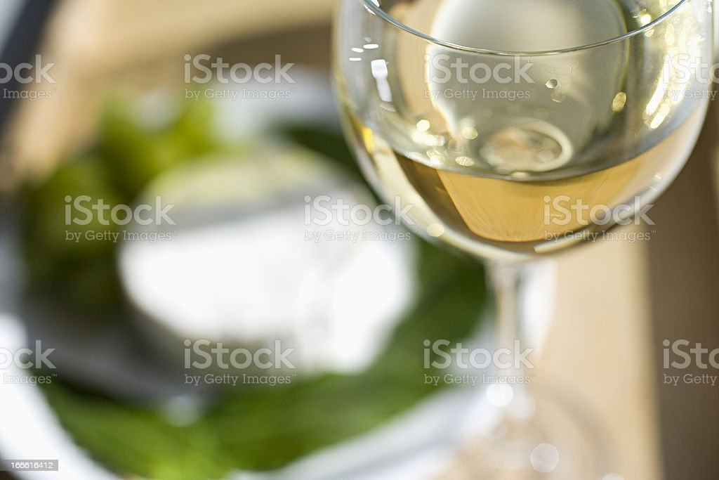Glass of White stock photo