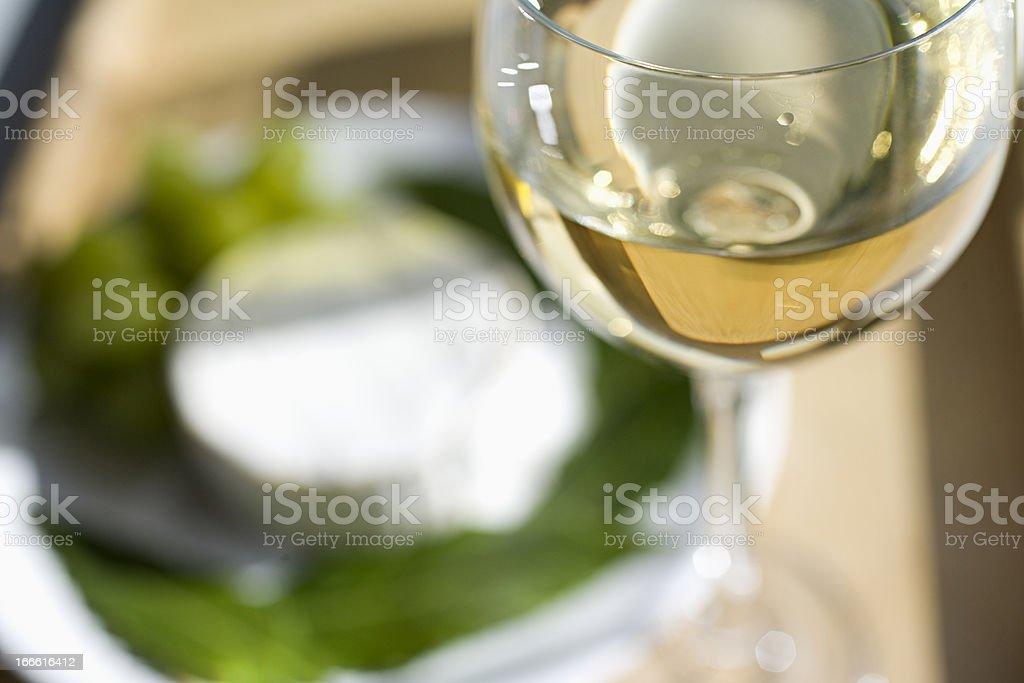 Glass of White stock photo