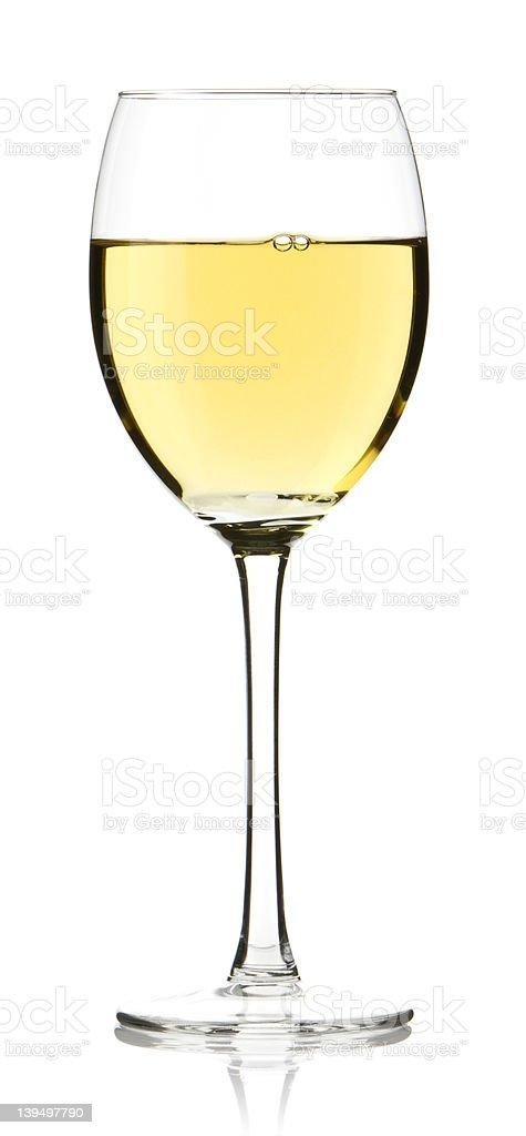 Glass of white Wine stock photo