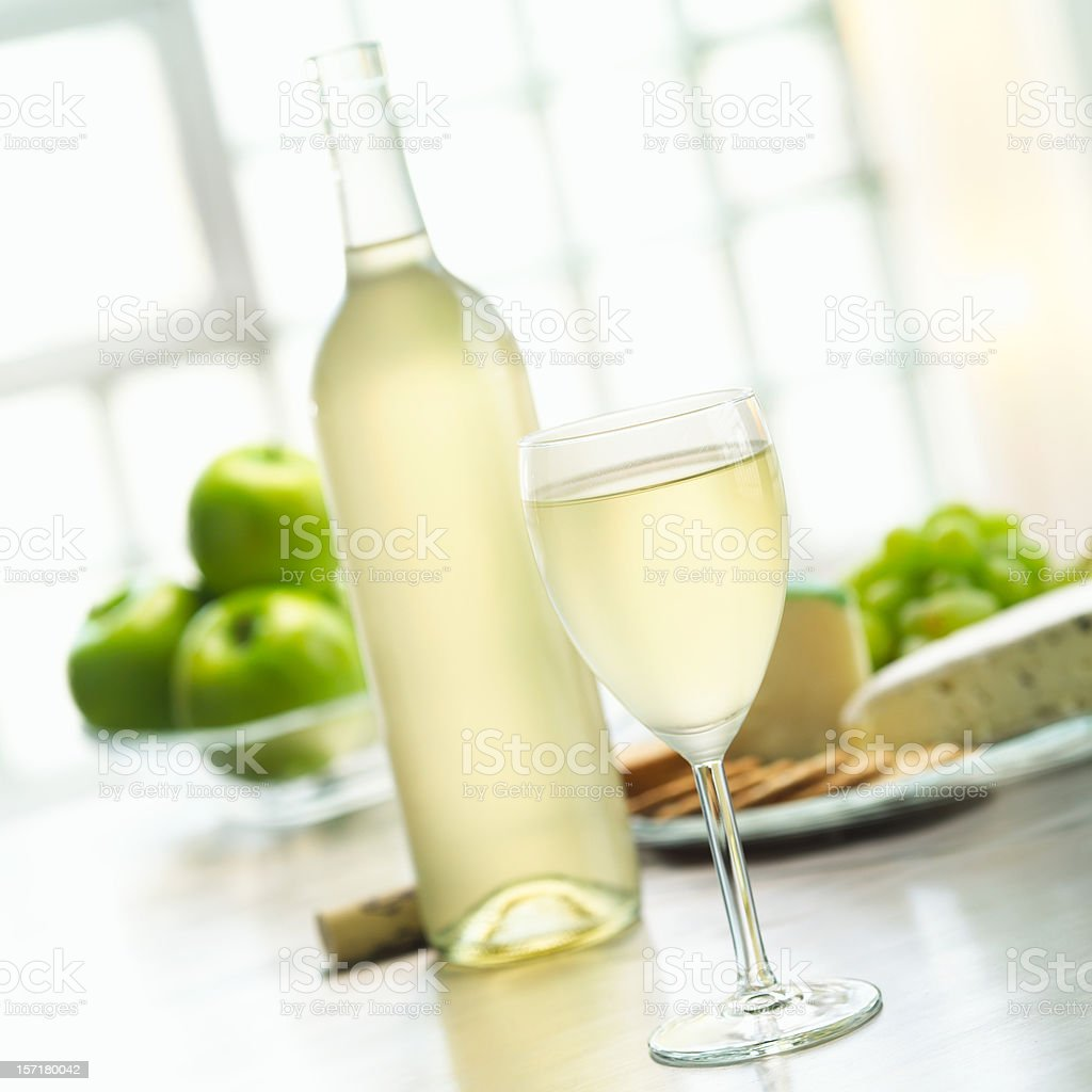 Glass of White Wine royalty-free stock photo
