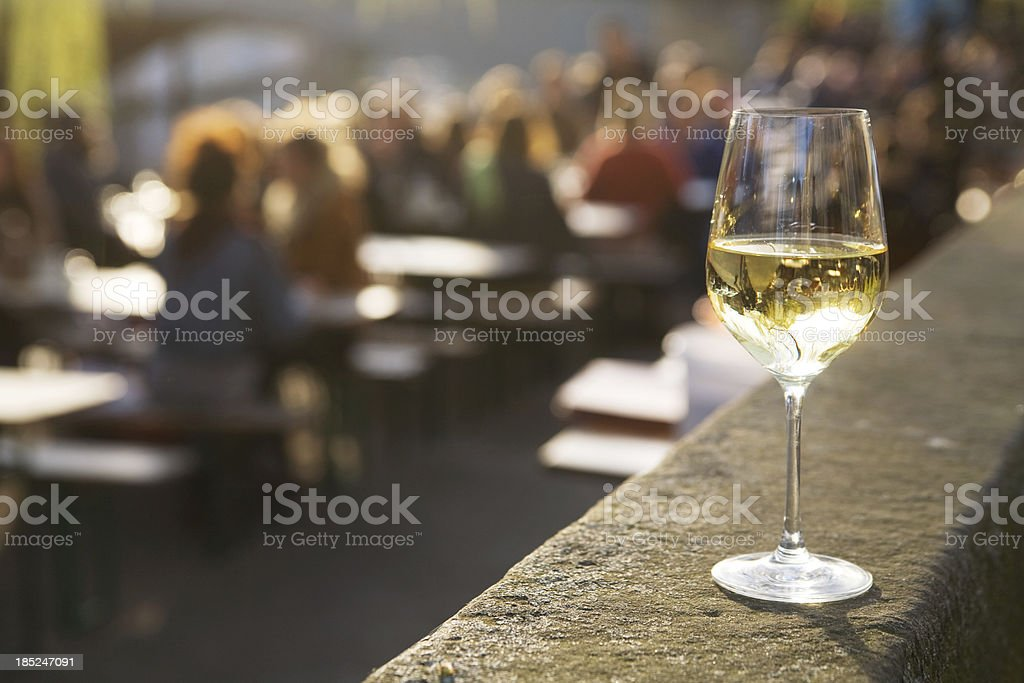 Glass of wine in the sun royalty-free stock photo