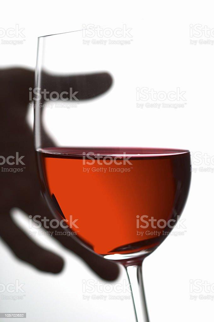 glass of wine (Feb2005) royalty-free stock photo