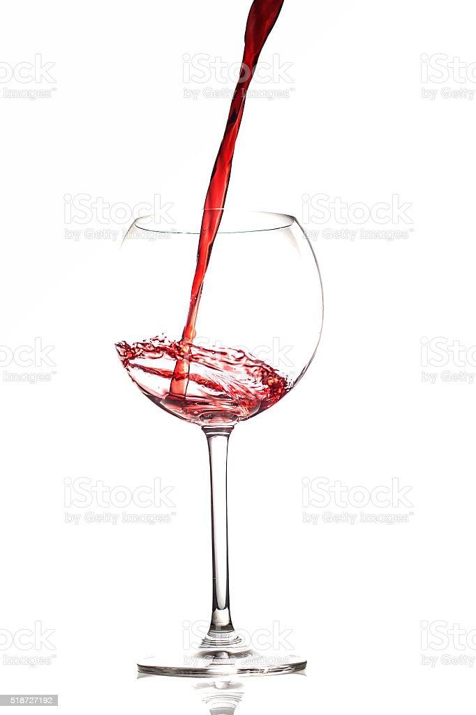 Glas Wein stock photo