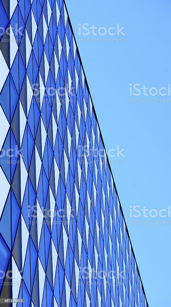 Glass office building facade stock photo