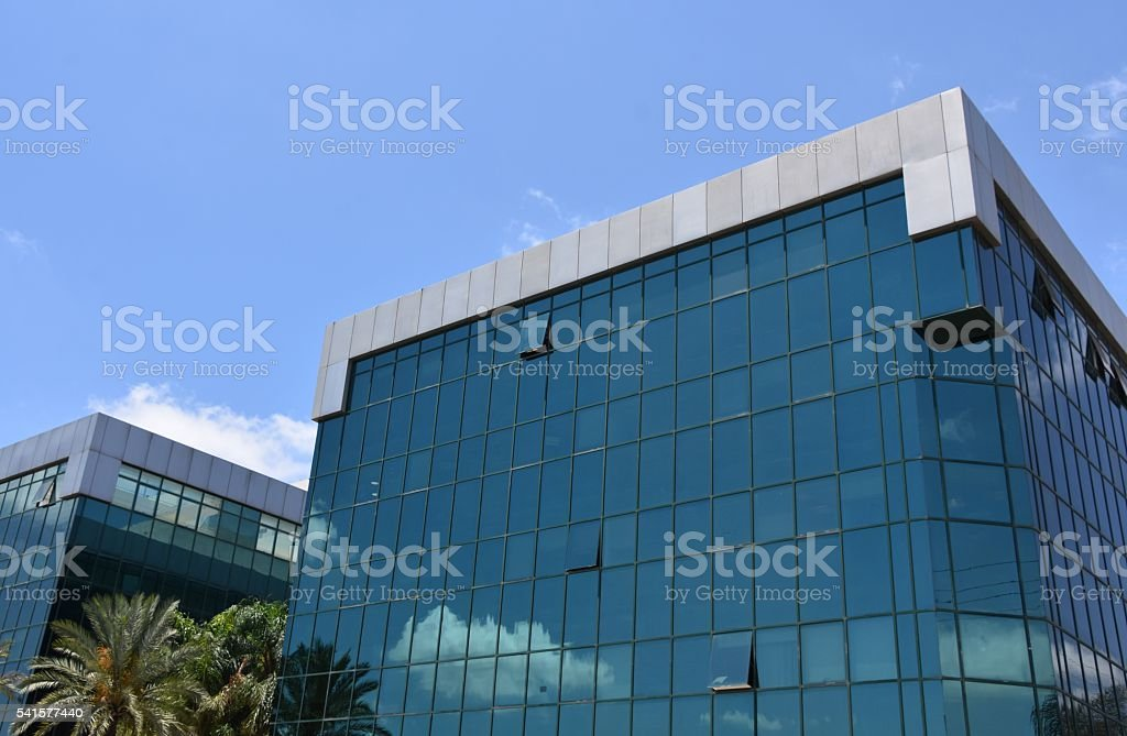 Glass office building stock photo