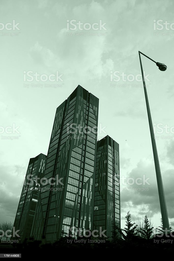 Glass office buildings royalty-free stock photo