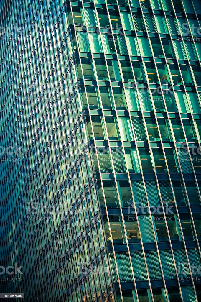 Glass Office Tower (Cross Processed) royalty-free stock photo