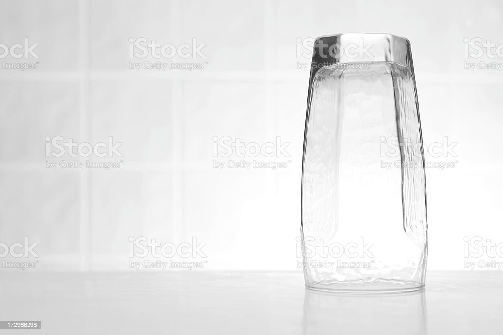 Glass on Counter Top stock photo