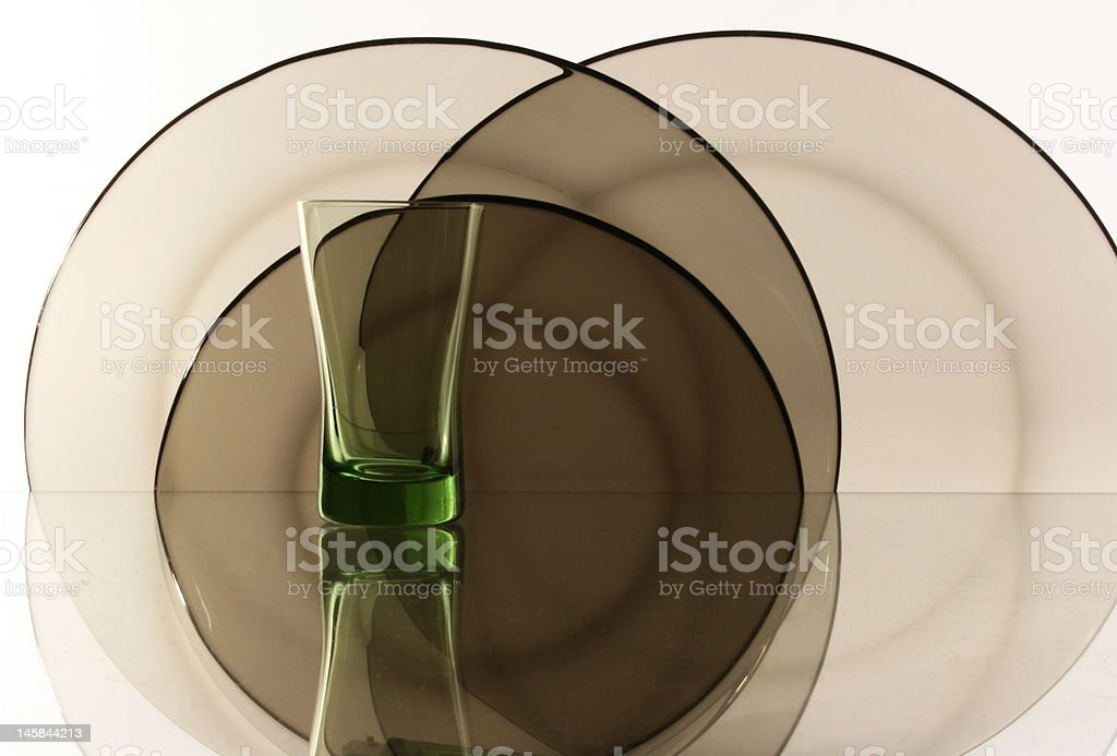 Glass on the white background royalty-free stock photo