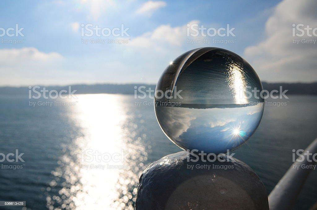 Glass orb, U.K. stock photo