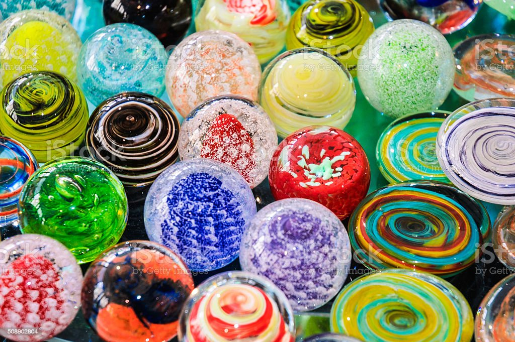 Glass Paper Weights stock photo