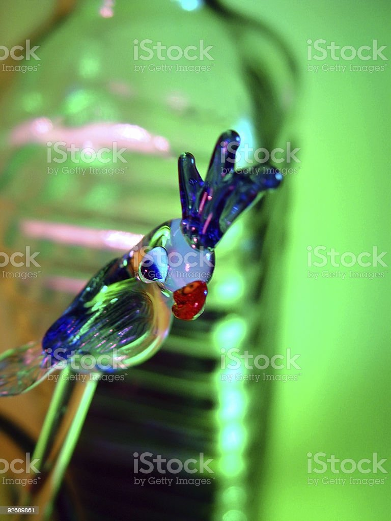Glass Parrot Stirring Stick stock photo