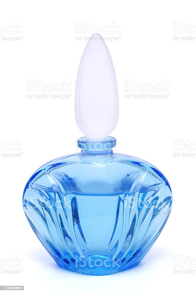 glass perfume bottle royalty-free stock photo