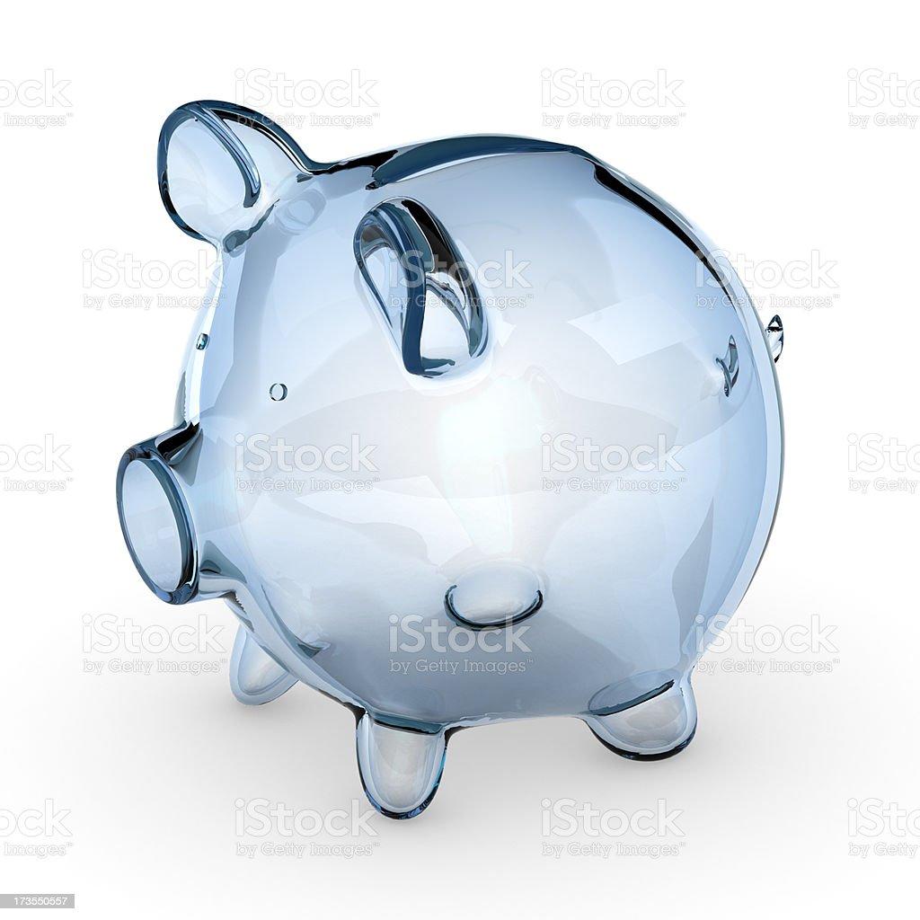Glass piggy bank royalty-free stock photo