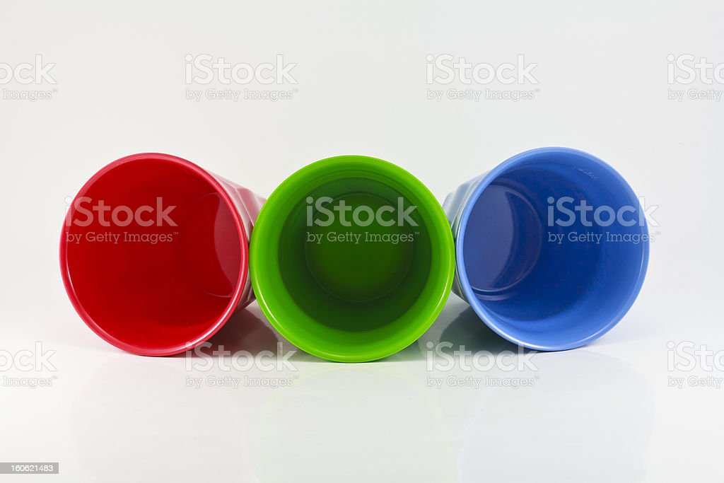 Glass plastic mix colors royalty-free stock photo