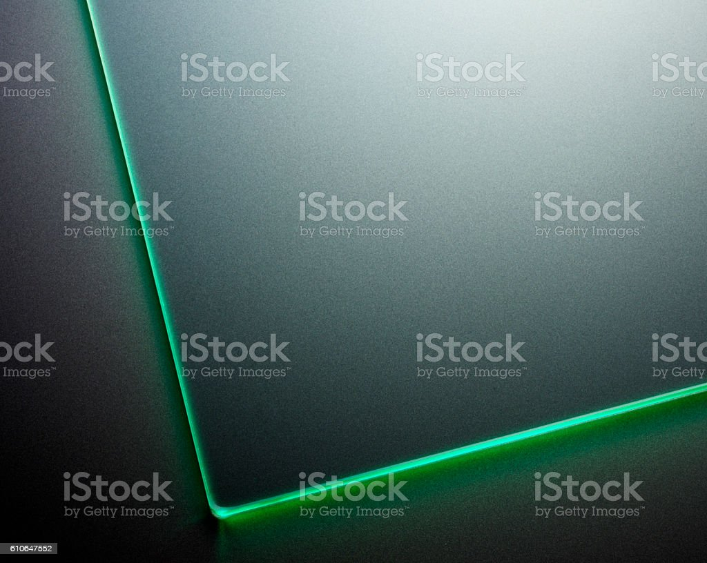 Glass plate abstract stock photo