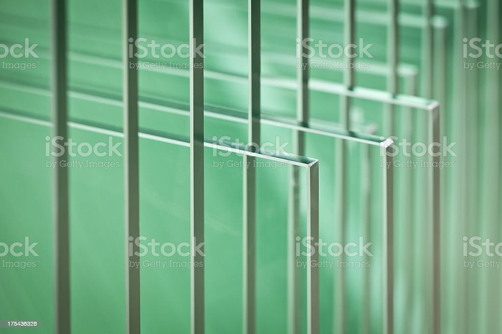 Glass plates stock photo