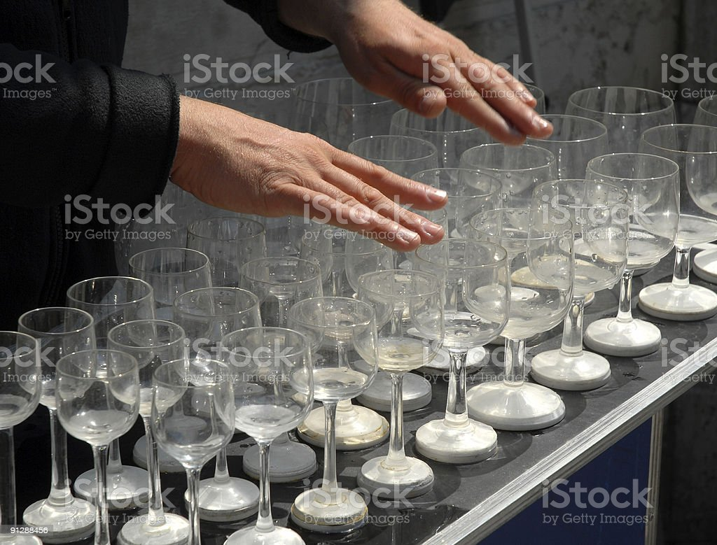 Glass Player stock photo