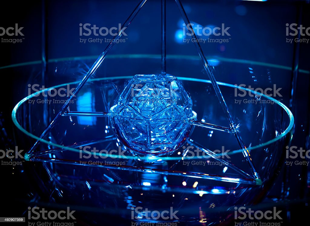 glass polygons stock photo