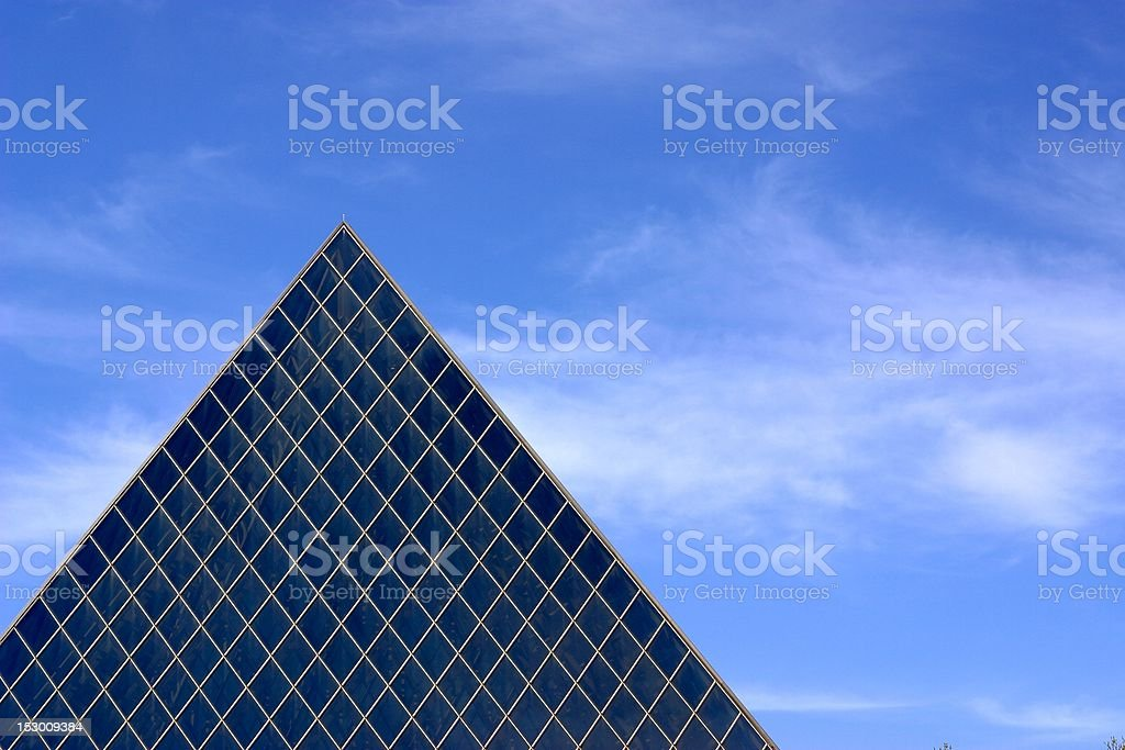 Glass Pyramid Building stock photo