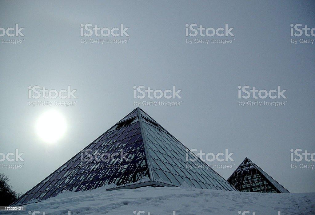 Glass Pyramids stock photo