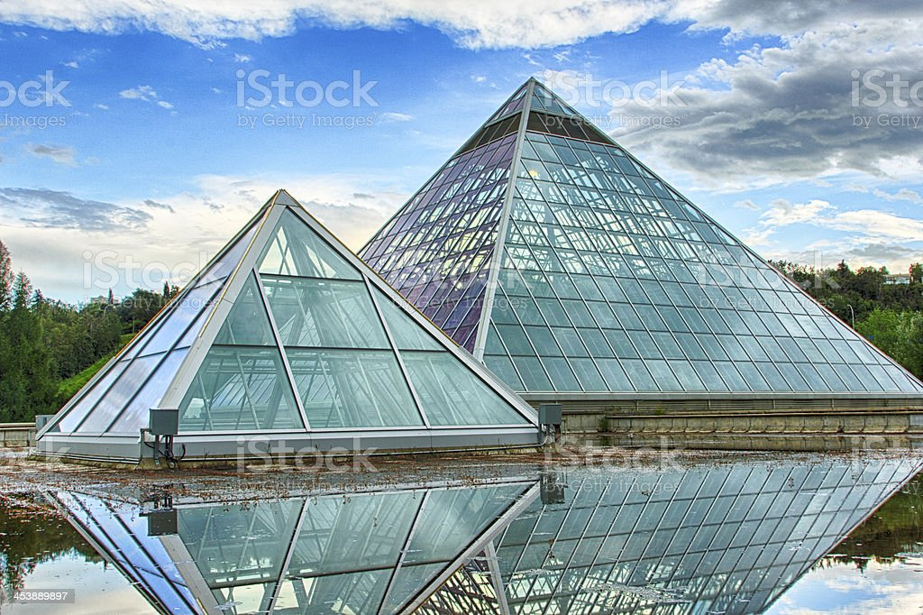 Glass Pyramids stock photo