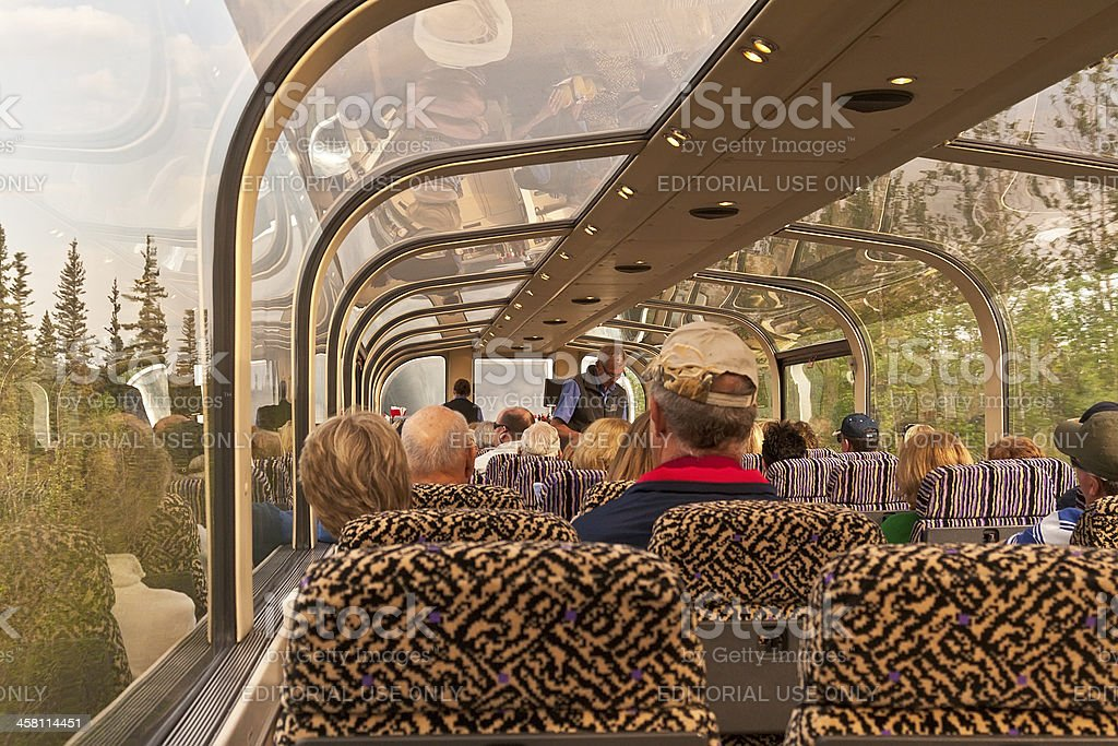 Glass Railcar to Denali royalty-free stock photo