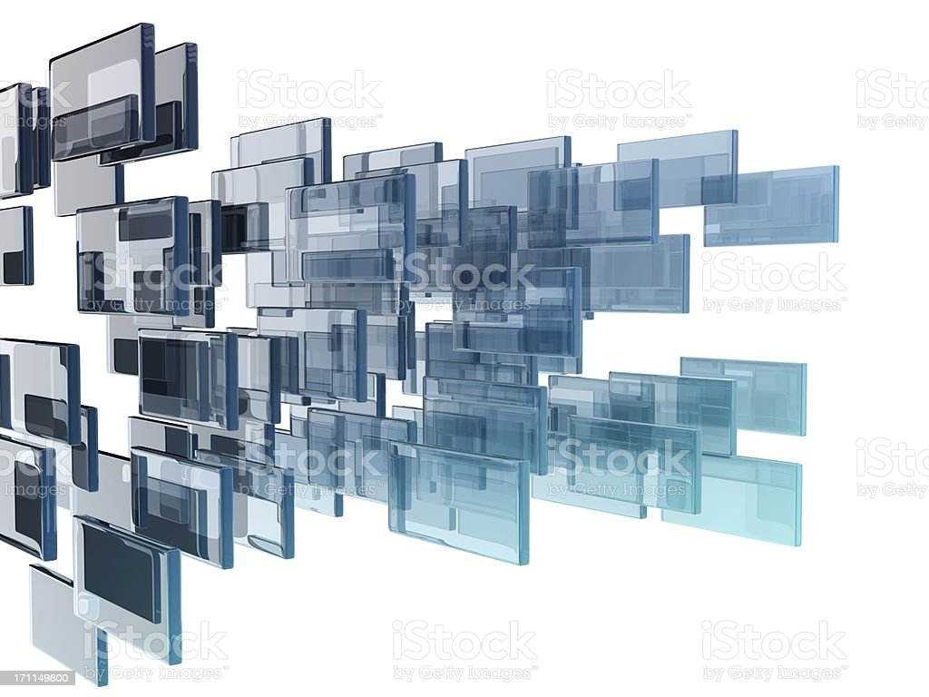 glass rectangles stock photo