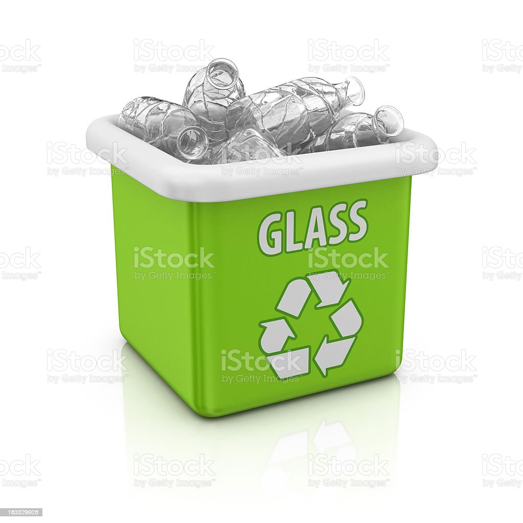 glass recycling bin royalty-free stock photo