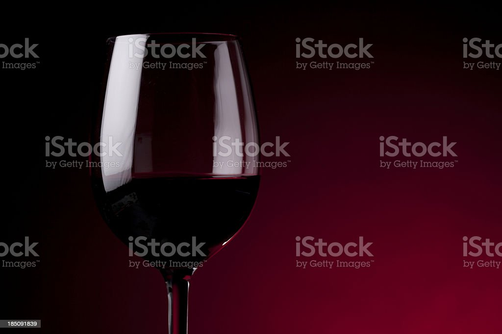 Glass red wine royalty-free stock photo