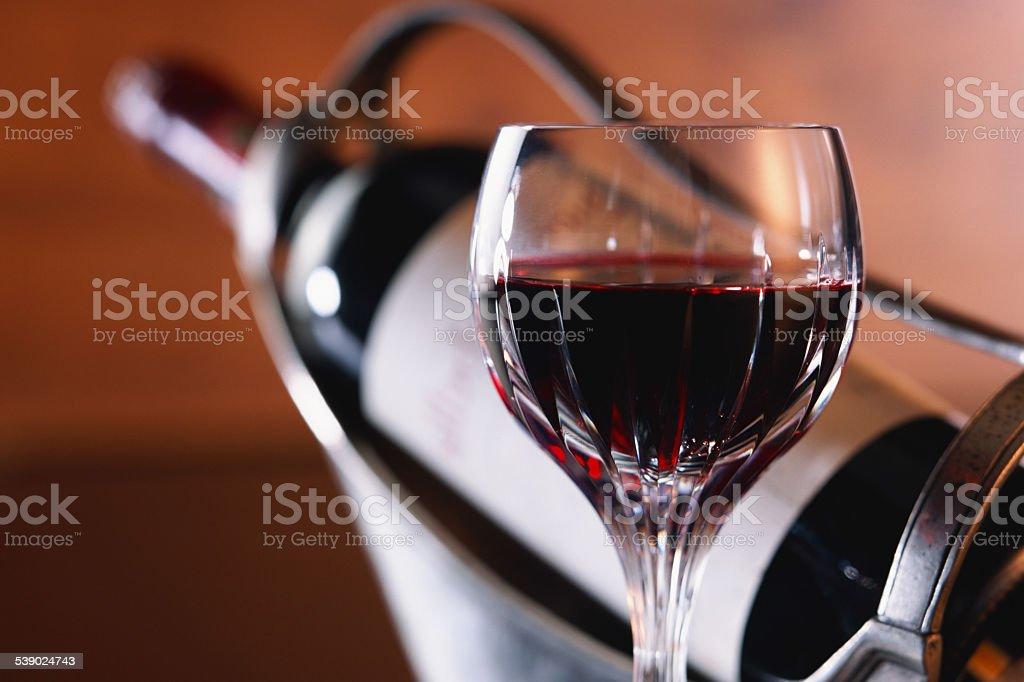 Glass Red Wine stock photo